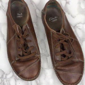 Mens Clarks Leather Sneaker Rubber Soles Sz 9